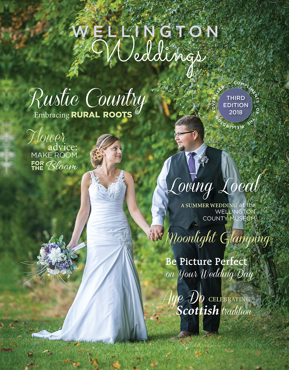 wellington weddings 2018 magazine cover image